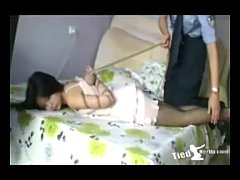 beautiful girl get tied up by police - http tiedherup.com