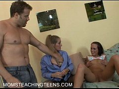 Teen Haley starts with a dildo but learns with a real cock