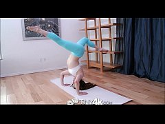 Tiny4K Petite teen fucked hard on yoga mat in 4K