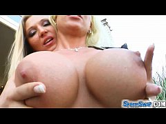 Sperm Swap Skanky busty blondes share the (cum)...
