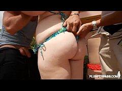Slut BBW in Bikini Holly Jayde Fucks 2 Hard Cocks