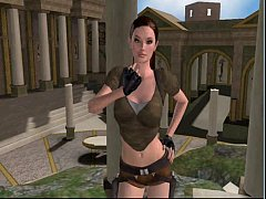 Lara Croft fucked by a demon at 3dSexVilla2