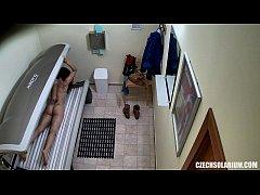 Teen Girl Spied in Solarium
