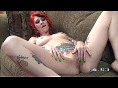 Petite slut Scarlett Storm is playing with her ...