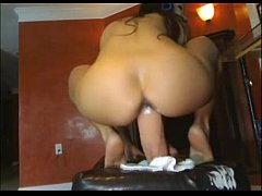 Hairy Amateur Girl Riding Big Dildo and Squirt ...
