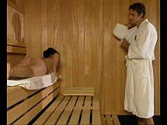 Kazakh Babe Fucks in Sauna