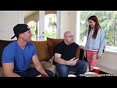 Teen Sally Squirt Gets Dicked Down by Daddy's F...
