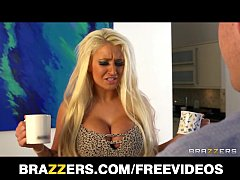 Beautiful blonde pornstar Brooklyn Blue breaks up a marriage