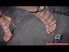 Wooden peg clamped subs body punished