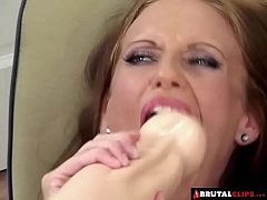 BrutalClips - Stretching her pussy to it's abso...