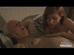 75 old grandpa sex blessed by Russian hottie bl...