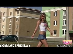 Come outside and watch me flashing my panties