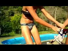 College Girl Pees Bikini