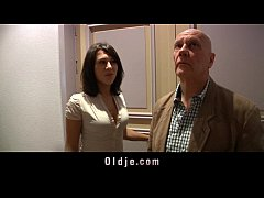 Kinky old man humps two crazy nympho girl in their playroom