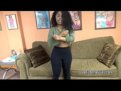 Curvy cutie Layla Finesse is on her knees and s...