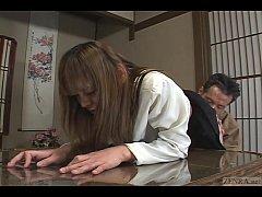 Japanese schoolgirl bizarre spanking and threes...
