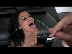 Sexy Latina getting a massive facial