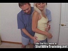 Blondie Wifey Cuckold Hubby Watches Sex