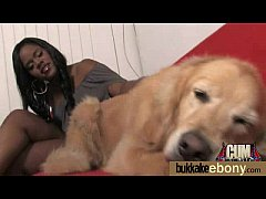 Ebony gets fucked in all holes by a group of white dudes 14