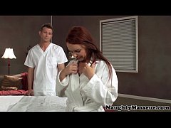 MILF Janet Mason drilled on massage table