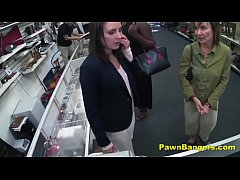 Cheeky Shop Owner Bangs Customer's Pussy