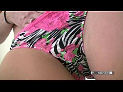 Horny hottie cami smalls stuff her twat with a new dildo