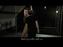 Body duct taped young sub girl is brutally puni...