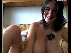 Busty MILF masturbating on webcam