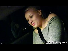 Gorgeous blonde Lola gets nailed in the car by ...