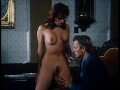 Vintage porn: she shows all her junk up on his ...
