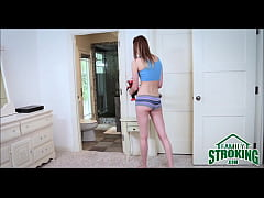 Step Dad Caught Setting Up Hidden Cam To Spy On...