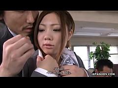 Yoshida getting drilled down about her presenta...