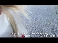 Blondie Eurobabe gets screwed for money