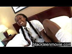 Black school teenie fucking white dude in School Girl Porn Video