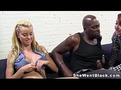 Mom and Daughter fuck a huge cock black dude