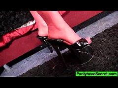 Redhead Samantha nylon pantyhose fetish screw