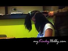 myKinkyHobby.com video: I half shaved this slut...