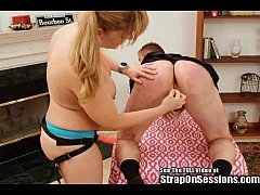 Freaky Alex poked and dressed up by the Strap O...
