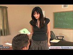 Brunette sex teacher Diana Prince fucking