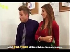 Madison Ivy Busty Secretary  gets tit fucked by...