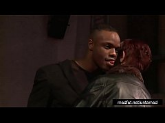 Female and Male Strippers Tease the Audience