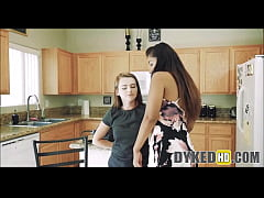Two Teen Girl Roommates Fight Then Agree To Fuc...