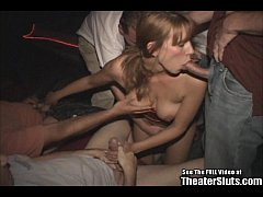 Mature Redhead Karen fucked by strangers in a p...