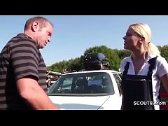 Daughter Seduce to Fuck Outdoor by Step-Dad and...