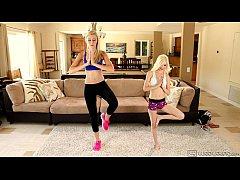Lesbian sex after fitness lesson - Alexa Grace ...