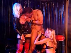 Two Hot Horny Beautiful Blondes in Leather get ...
