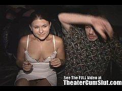 Wife Sucks & Fucks Strangers In a Seedy Porn Theater