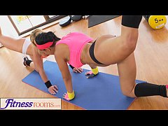 FitnessRooms Two lesbian gym buddies having a s...