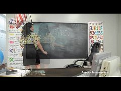 Big Titted Angelina Castro in Class FootJob 101