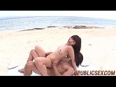 Outdoor sexperience along perky titsNanaka Kyono